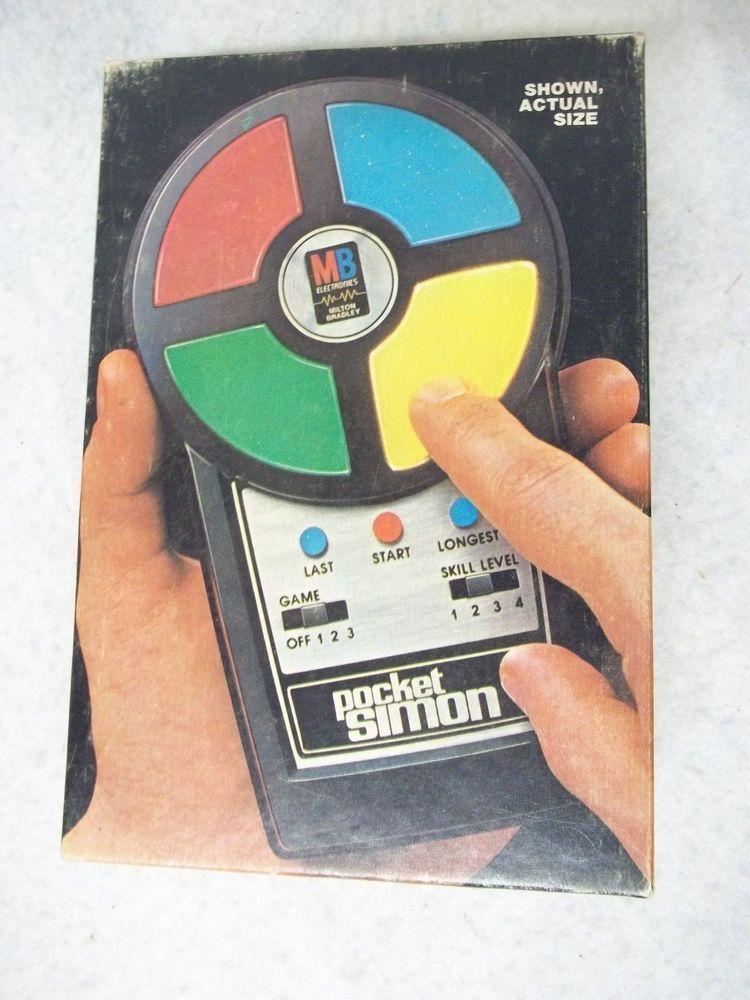 Vintage Pocket Simon 1980 Electronic Handheld Game Box Instructions