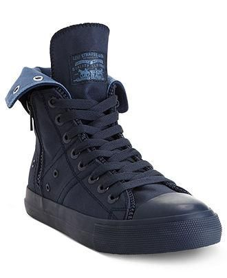 Levi's Hi Top sneakers let him zip up and head out