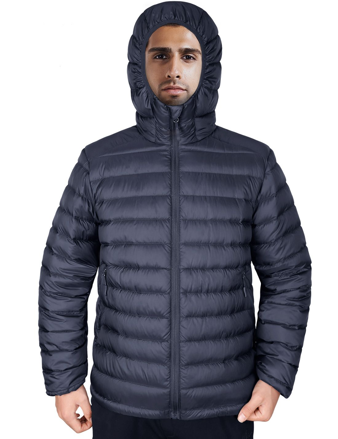 Lesmart Men S Hooded Puffer Down Coat Mens Golf Outfit Down Jacket Jackets