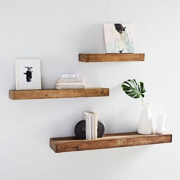 Reclaimed Wood Floating Shelf In 2020 Wood Floating Shelves Floating Shelf Decor Shelf Decor Living Room