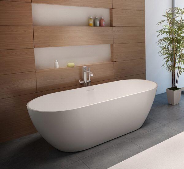 Riho Bilbao freistehende Badewanne 170 x 80 cm BS10 - MEGABAD ... | {Badewanne halb freistehend 70}