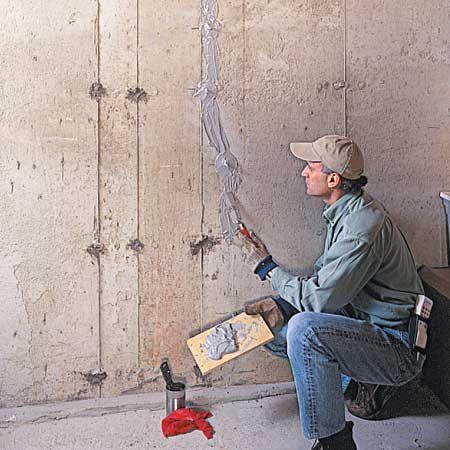 Fixing Cracks In Concrete Concrete Walls Diy Fix Cracked