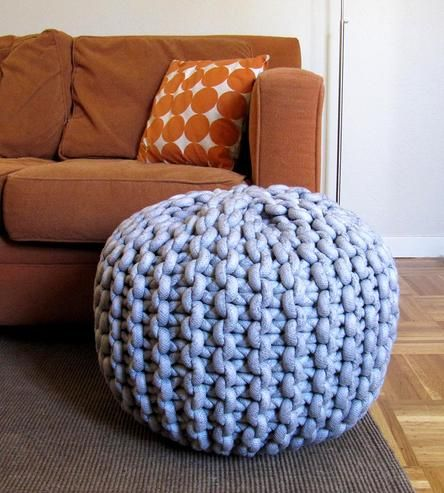 Large Pouf Ottoman Pleasing Extra Extra Large Knit Pouf Footrestmary Marie Knits On Scoutmob Inspiration