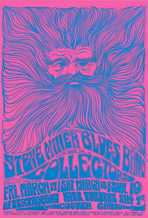 Bob Masse : Afterthought Series     Vancouver 03/17-19/1967     Featuring : Steve Miller Blues Band, & Collectors