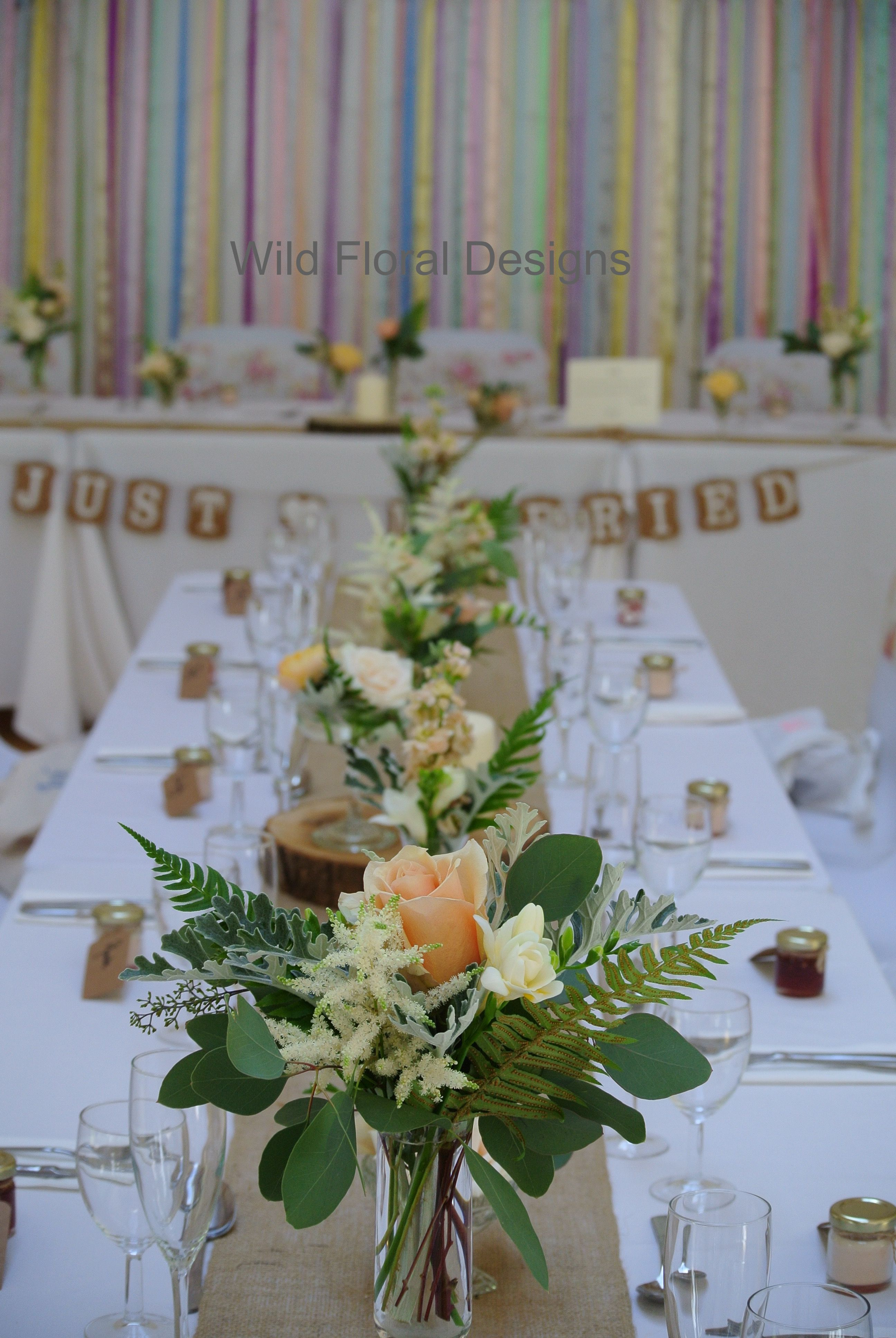 Stokeinteignhead Village Hall Wedding Devon Chair Covers Sashes Hessian Table Runners And Fl Designs Supplied By Wild