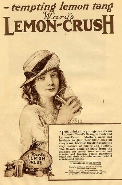 Orange Crush ad (1920)  | Ad and Mk | 1920s ads, Retro ads