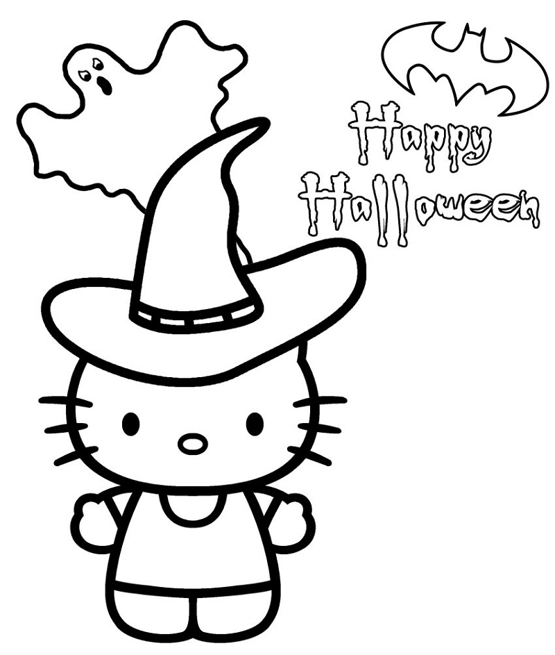 Hello Kitty Halloween Coloring Pages Hello Kitty Coloring Halloween Coloring Pages