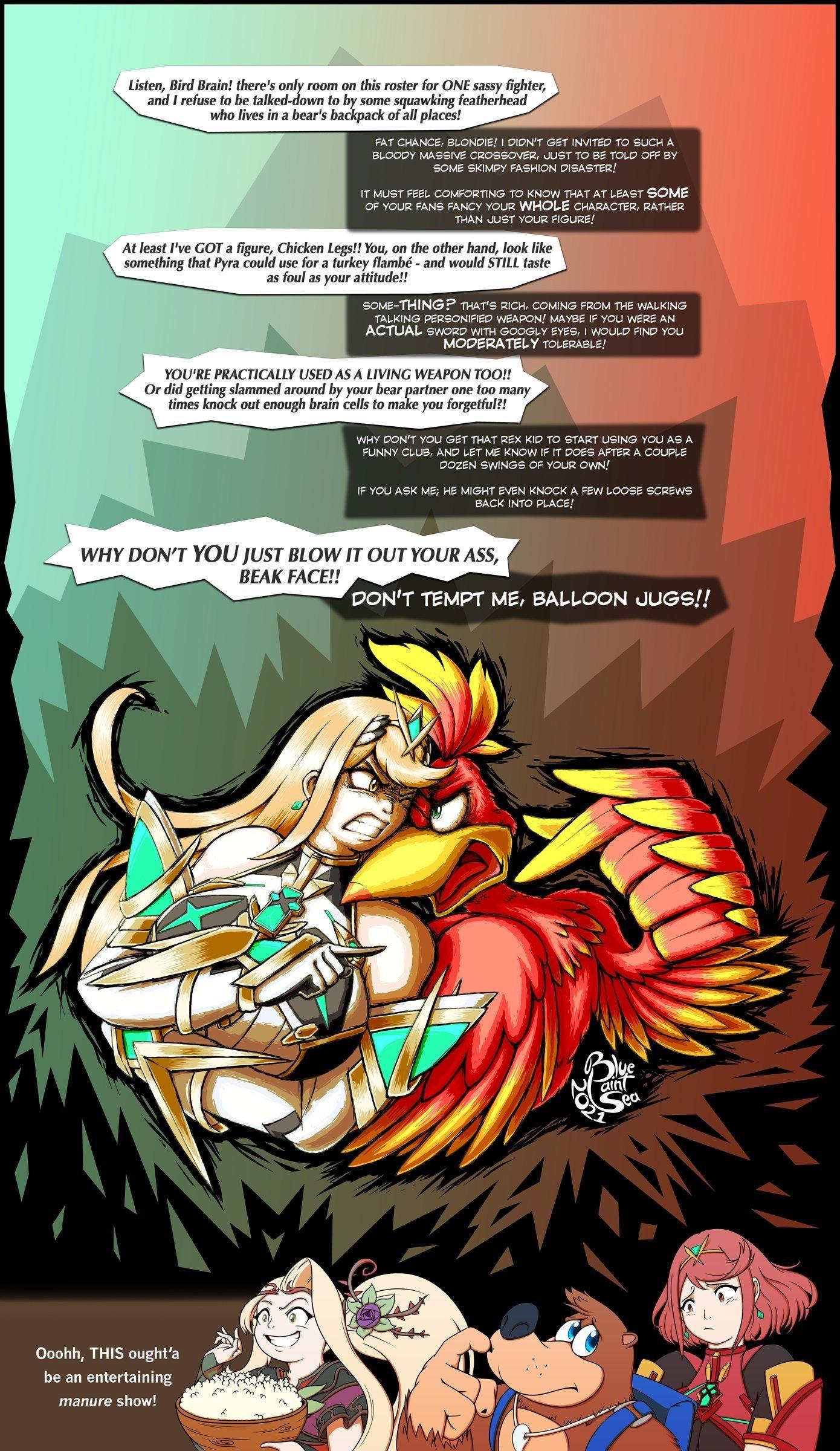 battle of the sass mythra vs kazooie