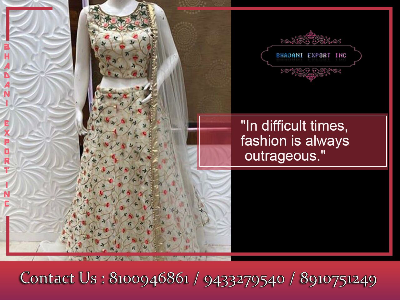Fashion Is What You Re Offered Four Times A Year By Designers And Style Is What You Choose Bhadani Latest Fashion S Ladies Gown Fashion Suits For Women