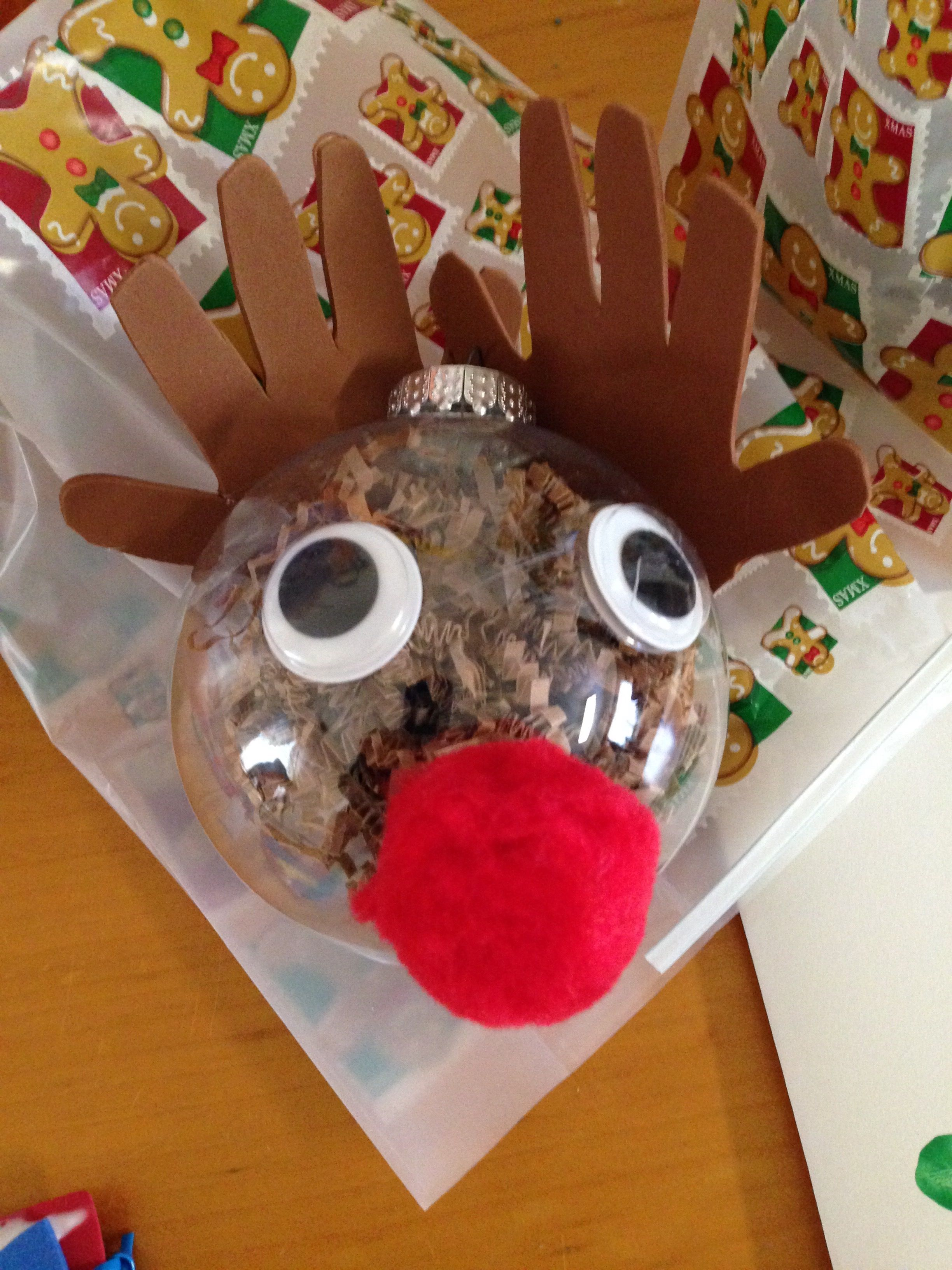 Our Rudolph The Red Nosed Reindeer Plastic Ornament Bulb Foam