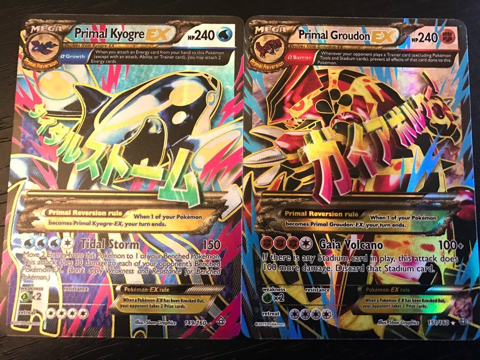 Pok Mon Individual Cards 2611 Pokemon Primal Groudon Kyogre Ex