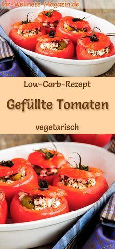 Low-Carb-Rezept für gefüllte Tomaten - gesundes, vegetarisches Hauptgericht