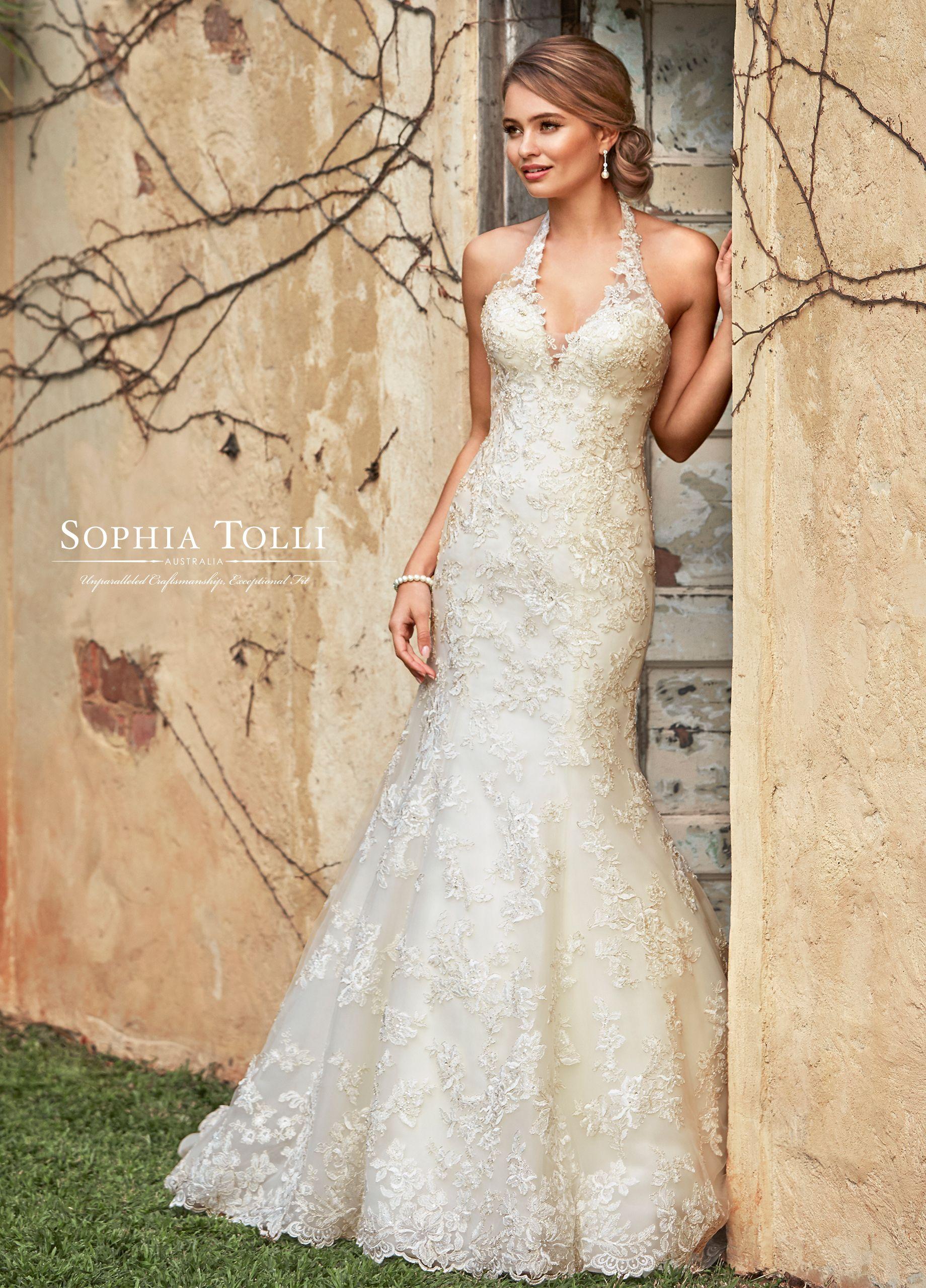 Sophia Tolli Marnie Sophia Tolli Top Wedding Dresses Halter Top Wedding Dress Wedding Dresses [ 2560 x 1840 Pixel ]