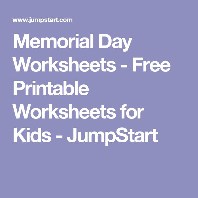 Memorial Day Worksheets Free Printable Worksheets For Kids
