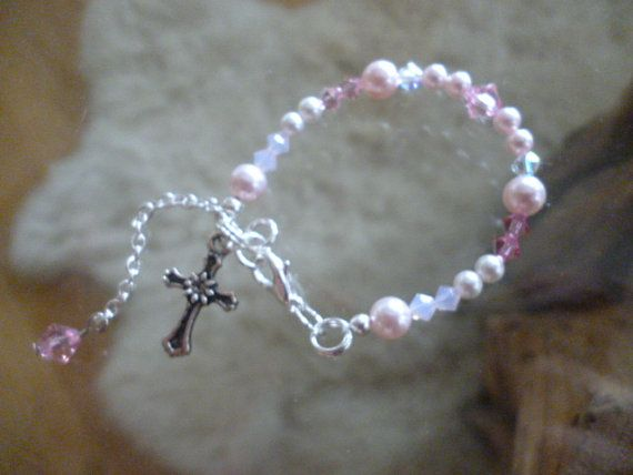 Baby Christening Bracelet by ElliTs on Etsy, $20.00