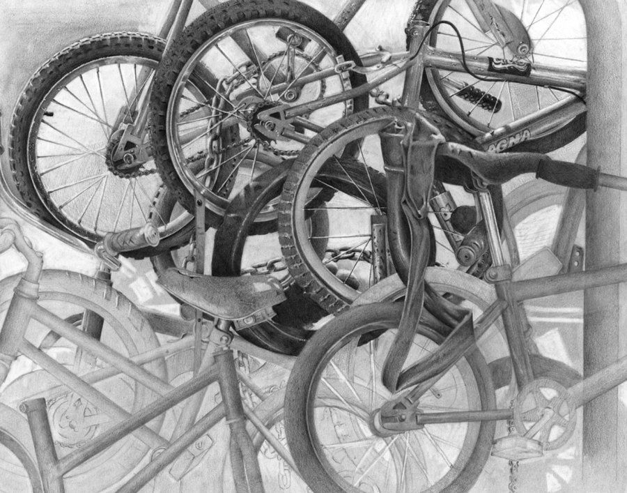 Risd Bike Drawing By Droogist On Deviantart Drawings Pinterest