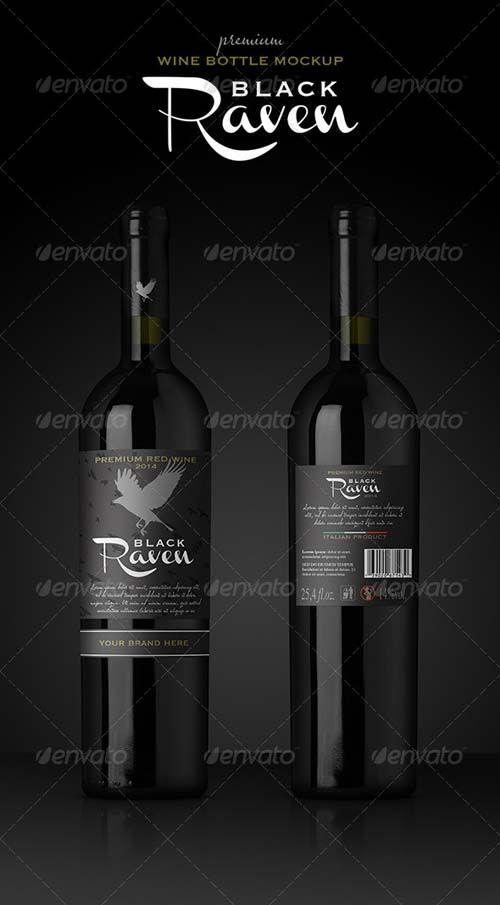 Download Graphicriver Premium Red Wine Mockup Wine Bottle Bottle Mockup Red Wine