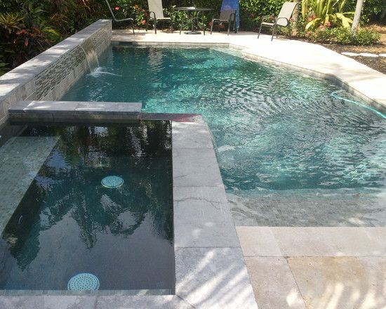 Swimming Pool Stunning Modern Pool Design Ideas With Green Bottom Of The Pool Color With Mosaic Tile Accent Also Slate S Pool Designs Modern Pools Pool Colors