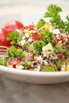 quinoa salat griechischer art low carb pinterest quinoa salat quinoa und griechische. Black Bedroom Furniture Sets. Home Design Ideas
