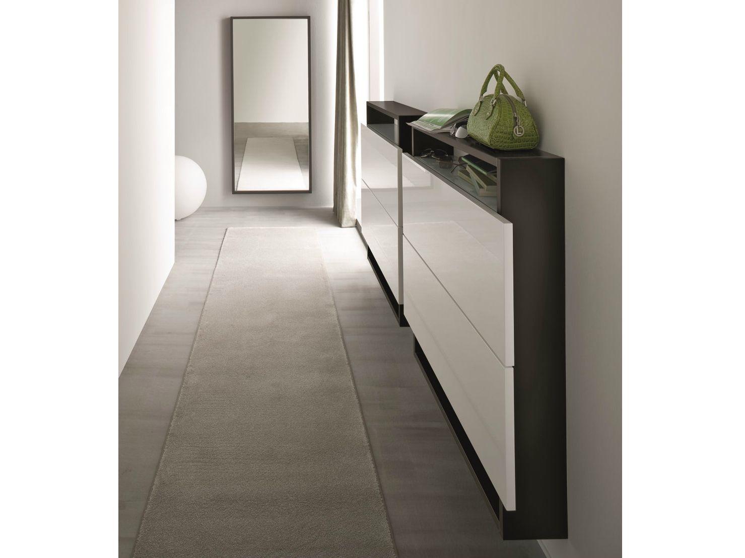HOSOI | Wall mounted shoe cabinet By Birex