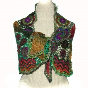 beautiful freeform crochet shawl/wrap, I'm in love with this!