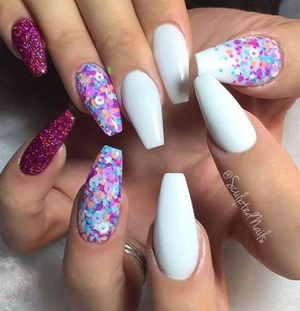 nails acrylic white holographic 52 ideas for 2019