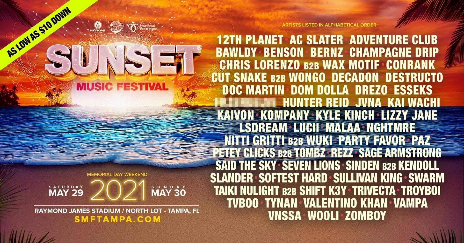 Sunset Music Festival 2021 Discount Ticket Promo Code Sunset Music Festival Music Festival Promo Codes