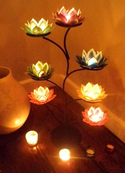 Glorious lotus lamp beautiful addition to the zen for Room decor zen