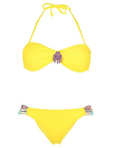 fade70e1d8 Maillot 2 pièces jaune Swim Hipanema for Amenapih prix promo Maillot de  Bain Monshowroom 100.00 €