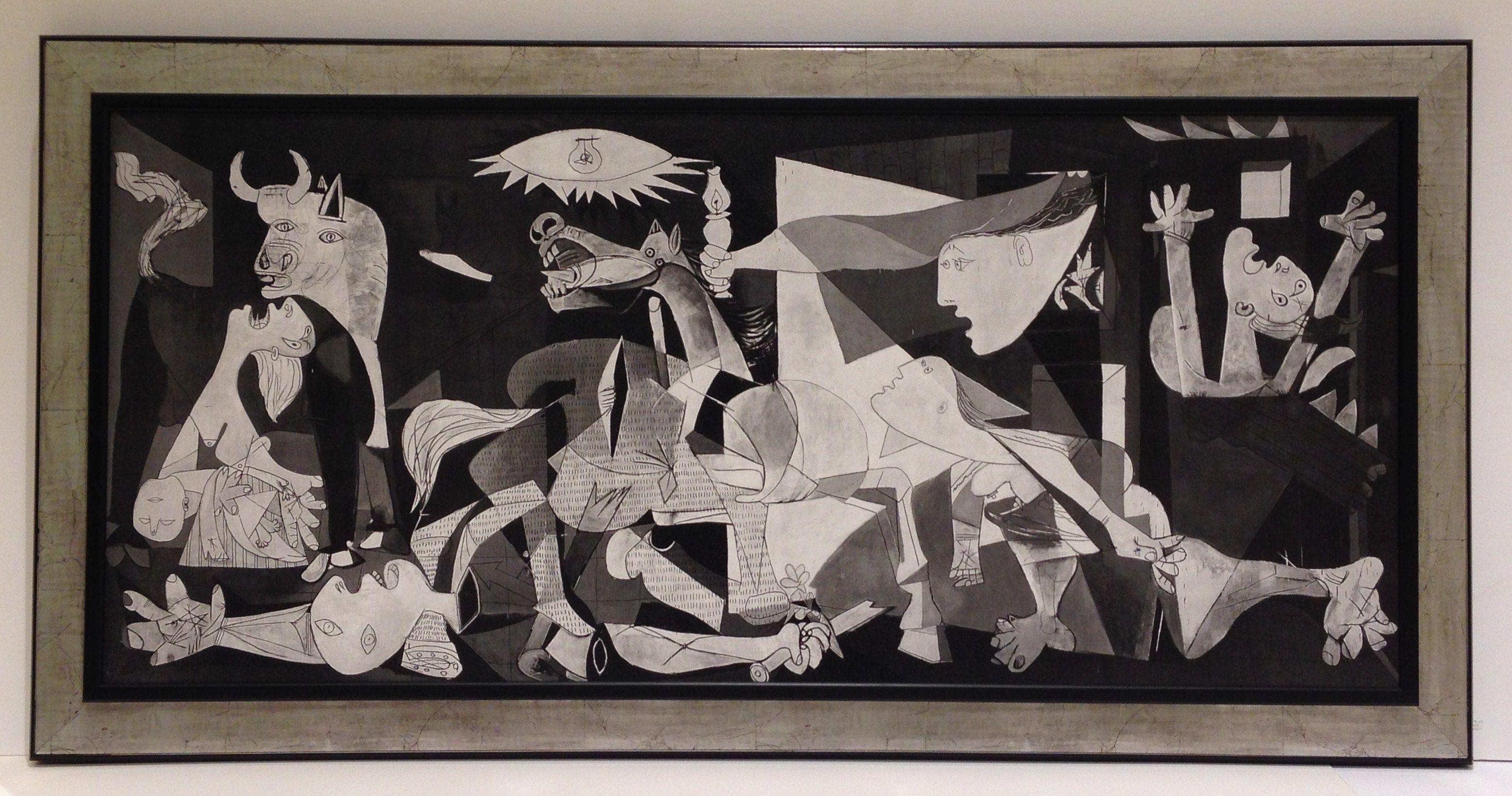 Reproducción Del Cuadro Guernica De Pablo Picassoenmarcada Sobre - Picassos vintage light drawings pleasure behold