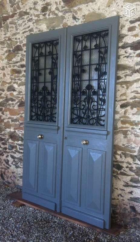 Porte ancienne avec grilles Bricolage Tarn - leboncoinfr portes