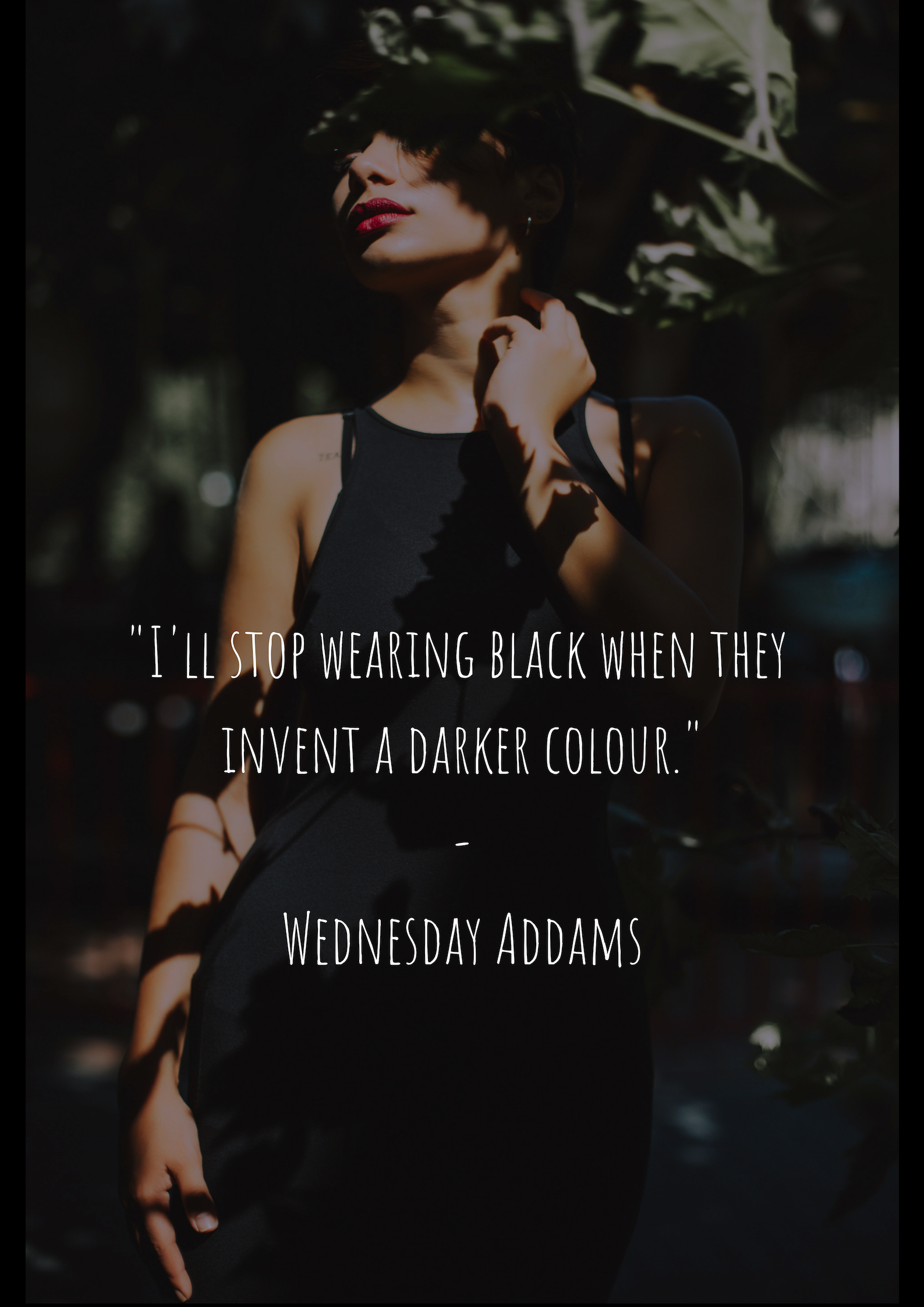 Pin By White Plum On Fashion Quotes Fashion Quotes Dark Colors Wearing Black [ 2245 x 1587 Pixel ]