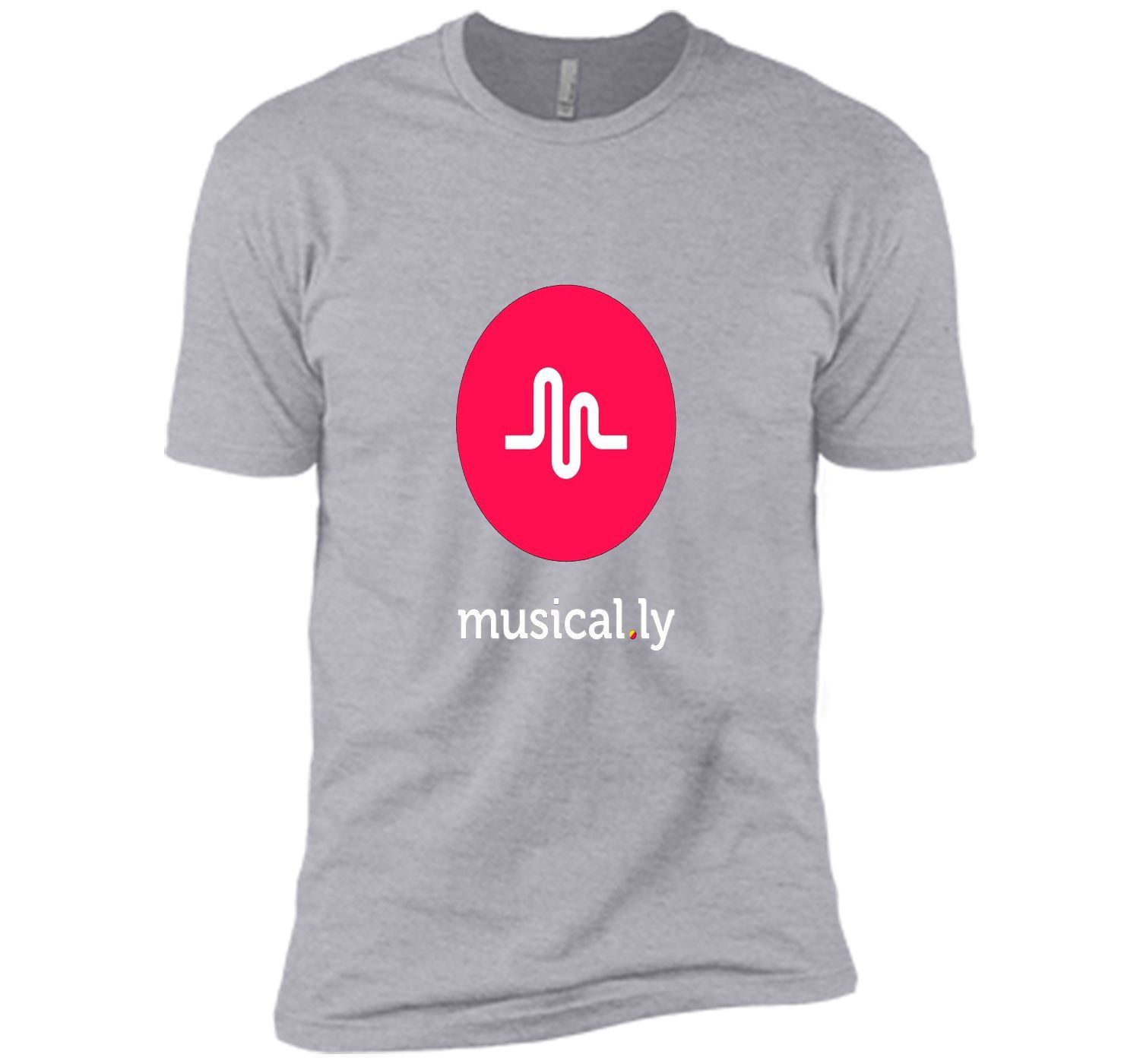 'musical.ly' T-Shirt (Black - Fitted Cut)