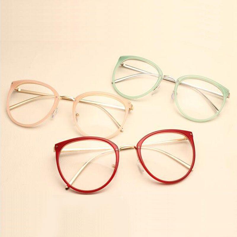 Decoração do vintage Óculos Ópticos Quadro miopia mulheres redondas de  metal óculos óculos oculos de grau óculos oculos de grau feminino armação 29c56e3e4a