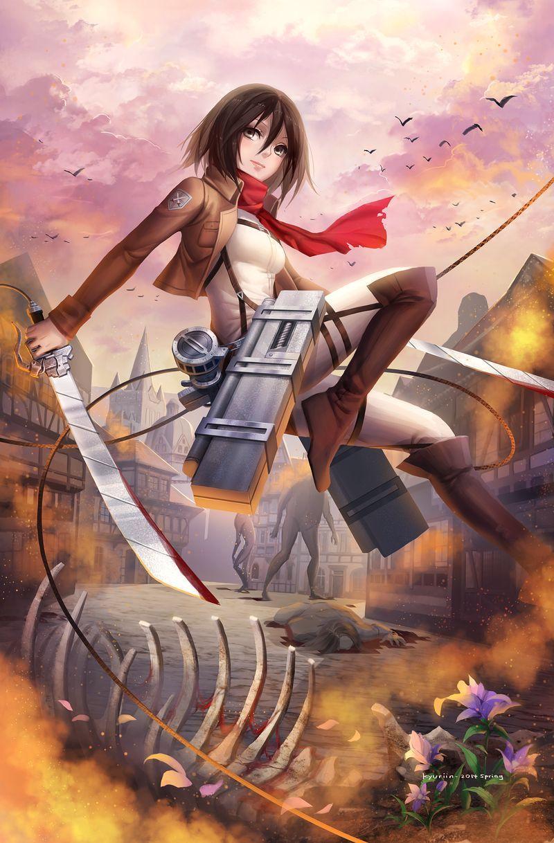 Mikasa by Kyuriin on DeviantArt in 2020 Anime, Mikasa