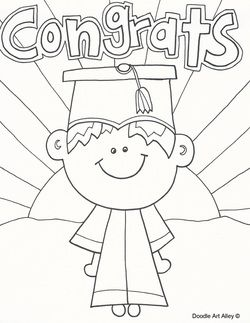 graduation coloring pages - Graduation Coloring Pages