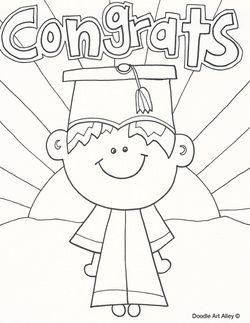 Graduation Coloring Pages Kindergarten Graduation Pictures Kids