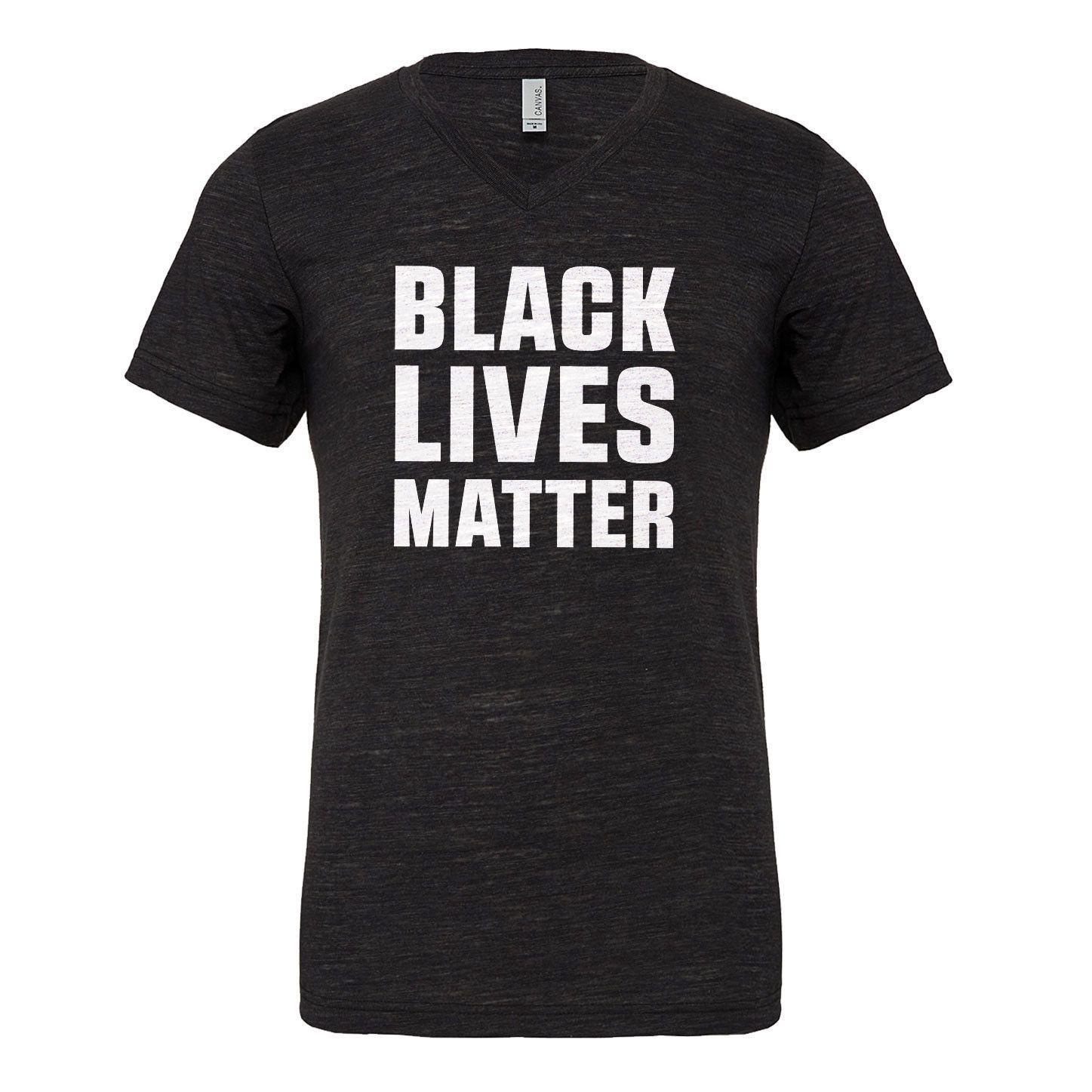 Black Lives Matter Mens Vneck Short Sleeve T-shirt