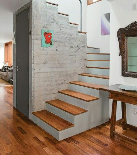 Escaleras dise o interiores pinterest escalera for Escalera interior casa