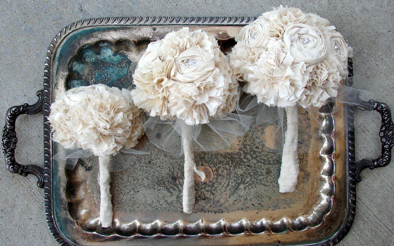Organic Cotton Fabric Bouquets | Eco bouquets | Pinterest | Fabric ...