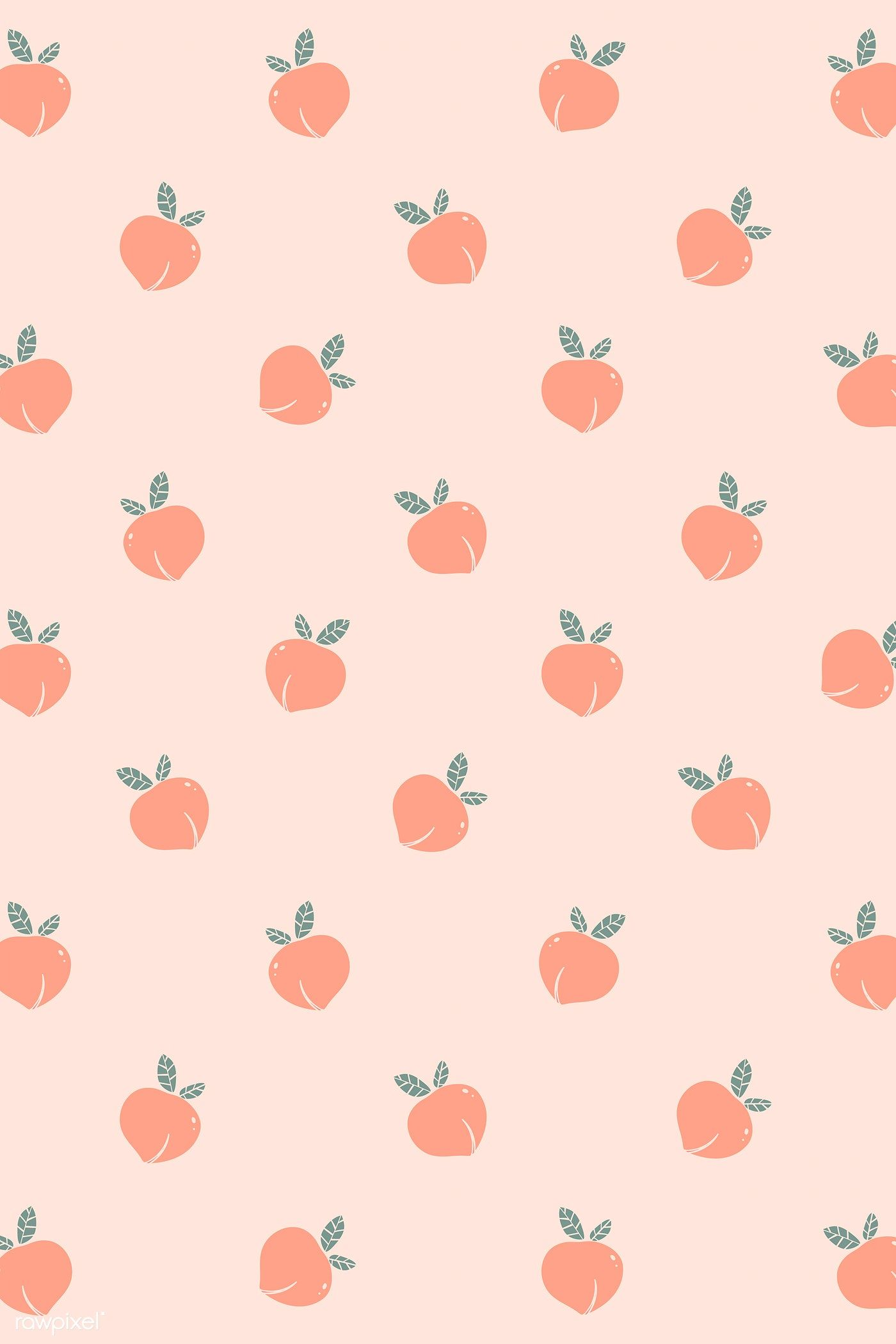 Download Premium Illustration Of Hand Drawn Peach Patterned Background Simple Iphone Wallpaper Peach Wallpaper Cute Wallpapers For Ipad