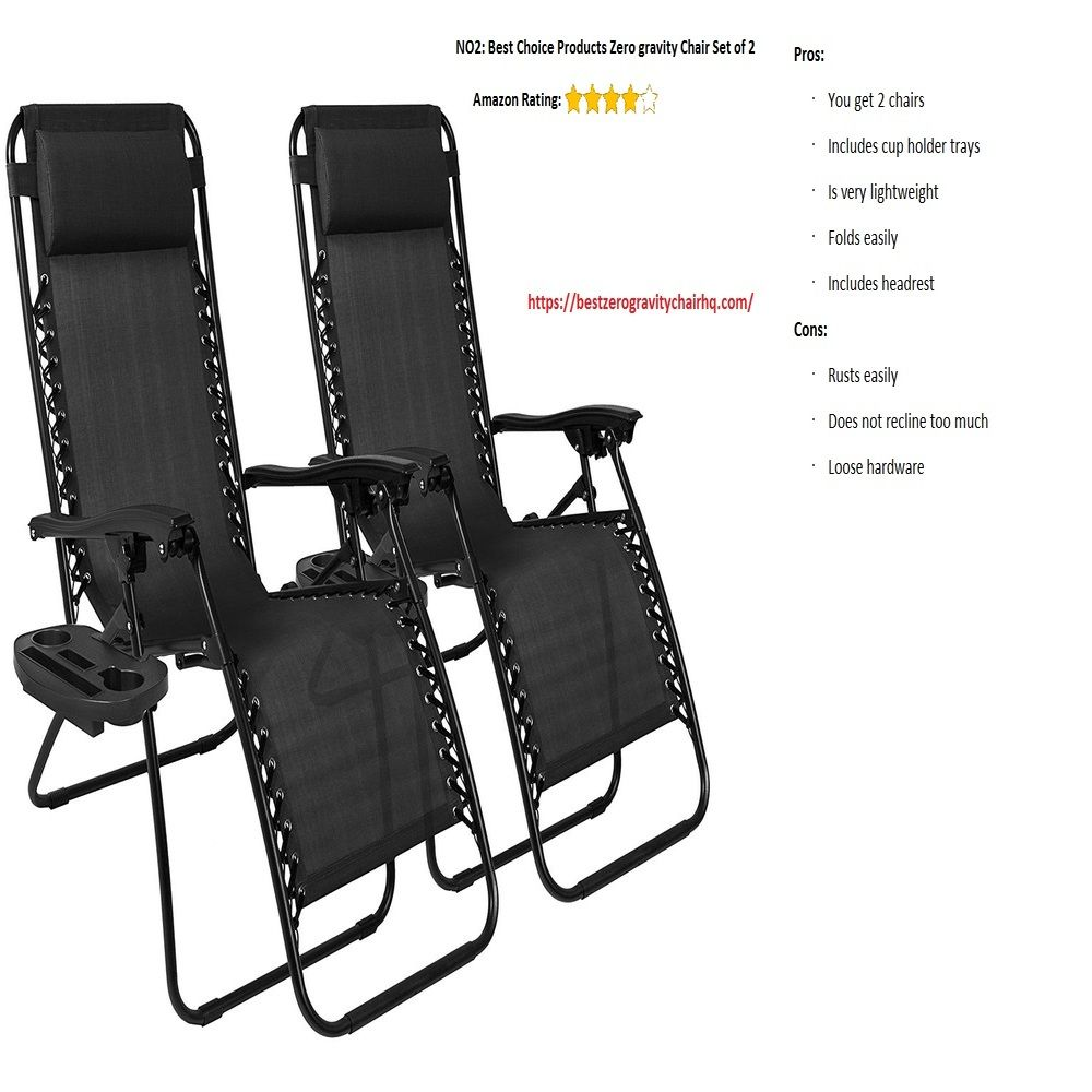 No 2 Best Choice Product Zero Gravity Chair Set Of Two