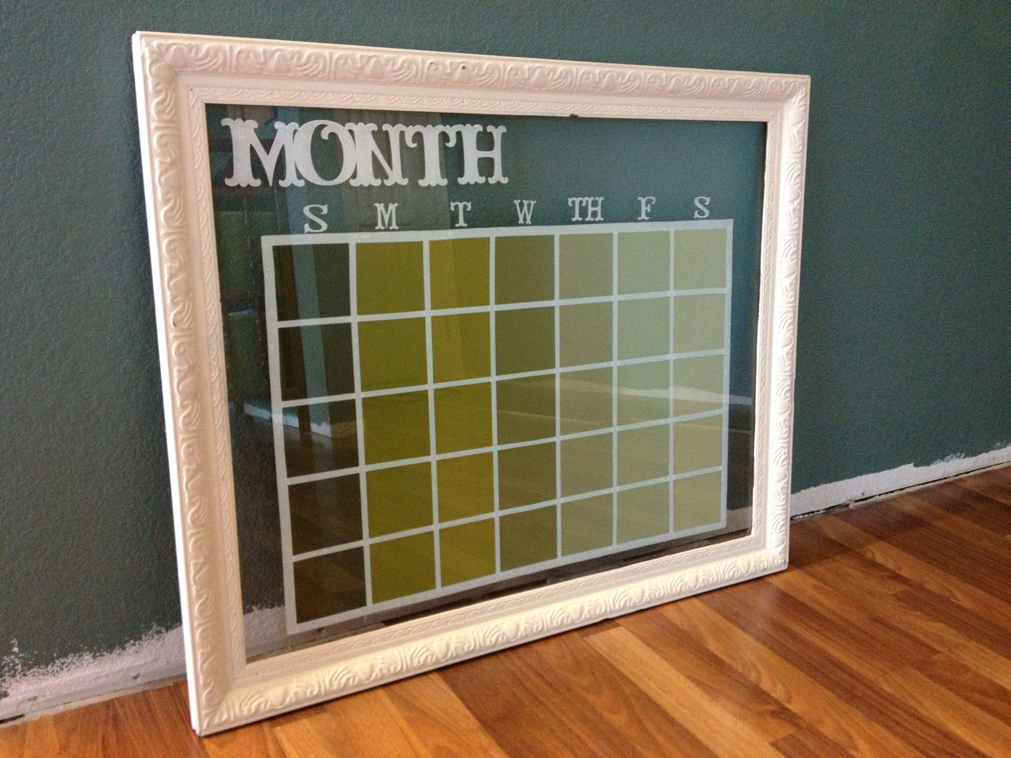 Glass Dry Erase Calendar Frame Pinteres