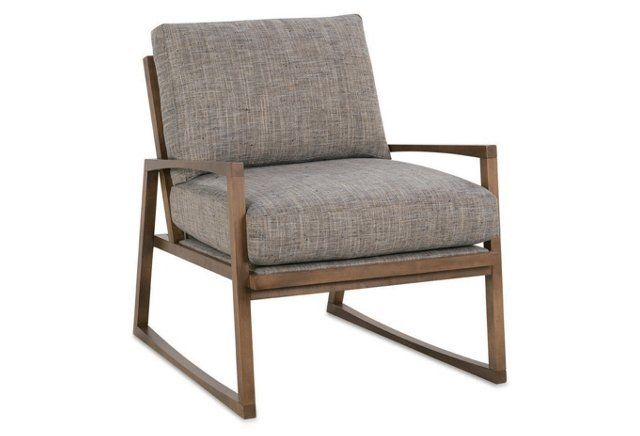 Markus Accent Chair, Heathered Slate