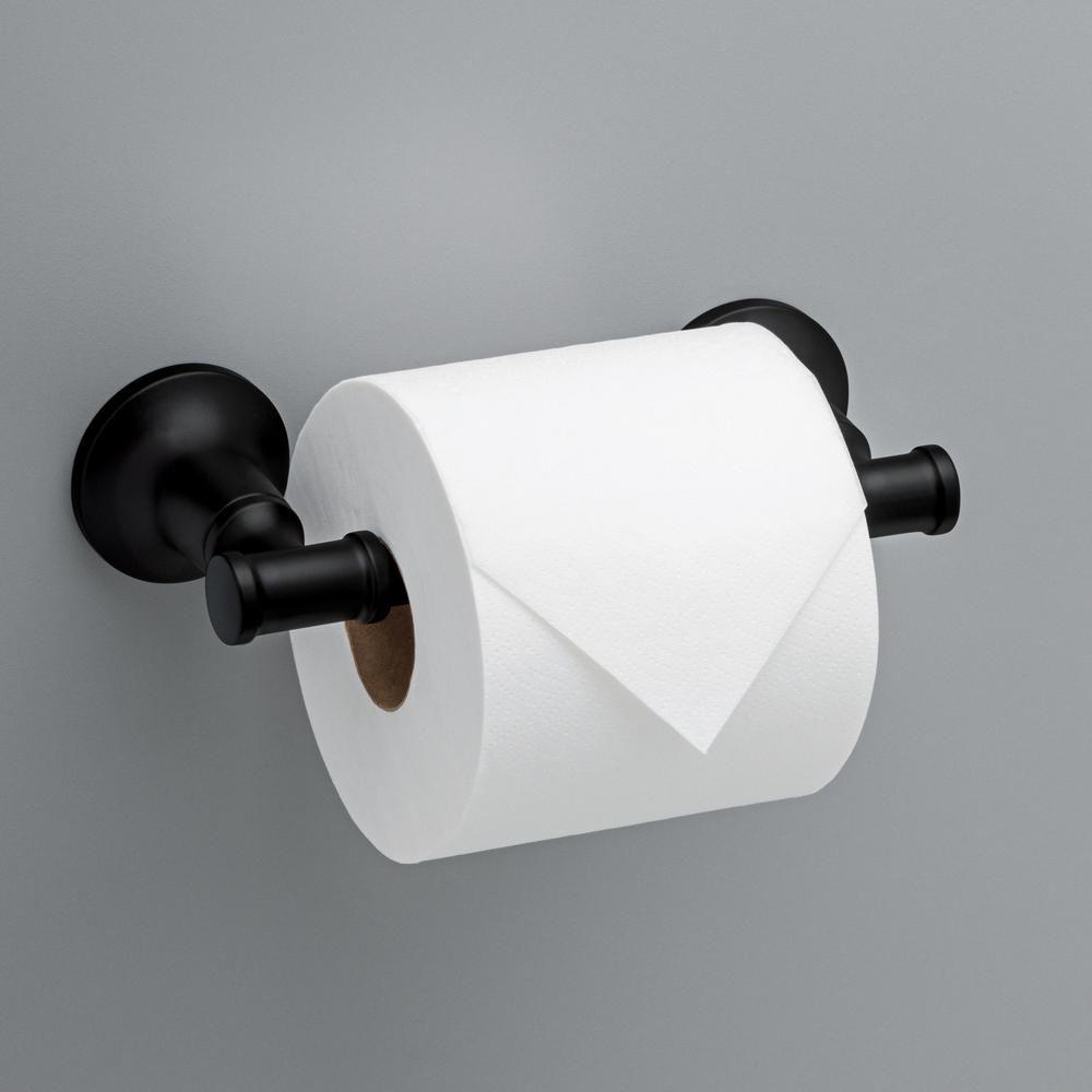 Delta Chamberlain Pivoting Toilet Paper Holder In Matte Black Cml50 Mb The Home Depot In 2020 Toilet Paper Holder Toilet Paper Toilet