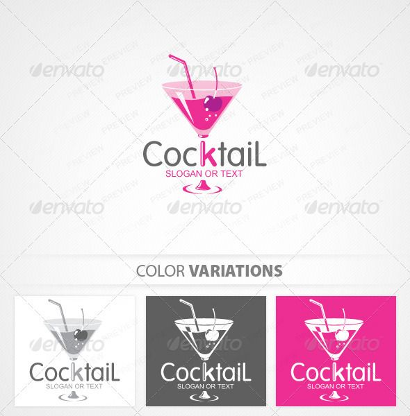 Cocktail Bar Logo Template — Vector EPS #collection #tasty • Available here → https://graphicriver.net/item/cocktail-bar-logo-template/535467?ref=pxcr