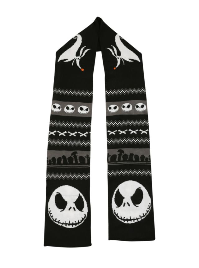 The Nightmare Before Christmas Fair Isle Knit Scarf   Hot Topic ...