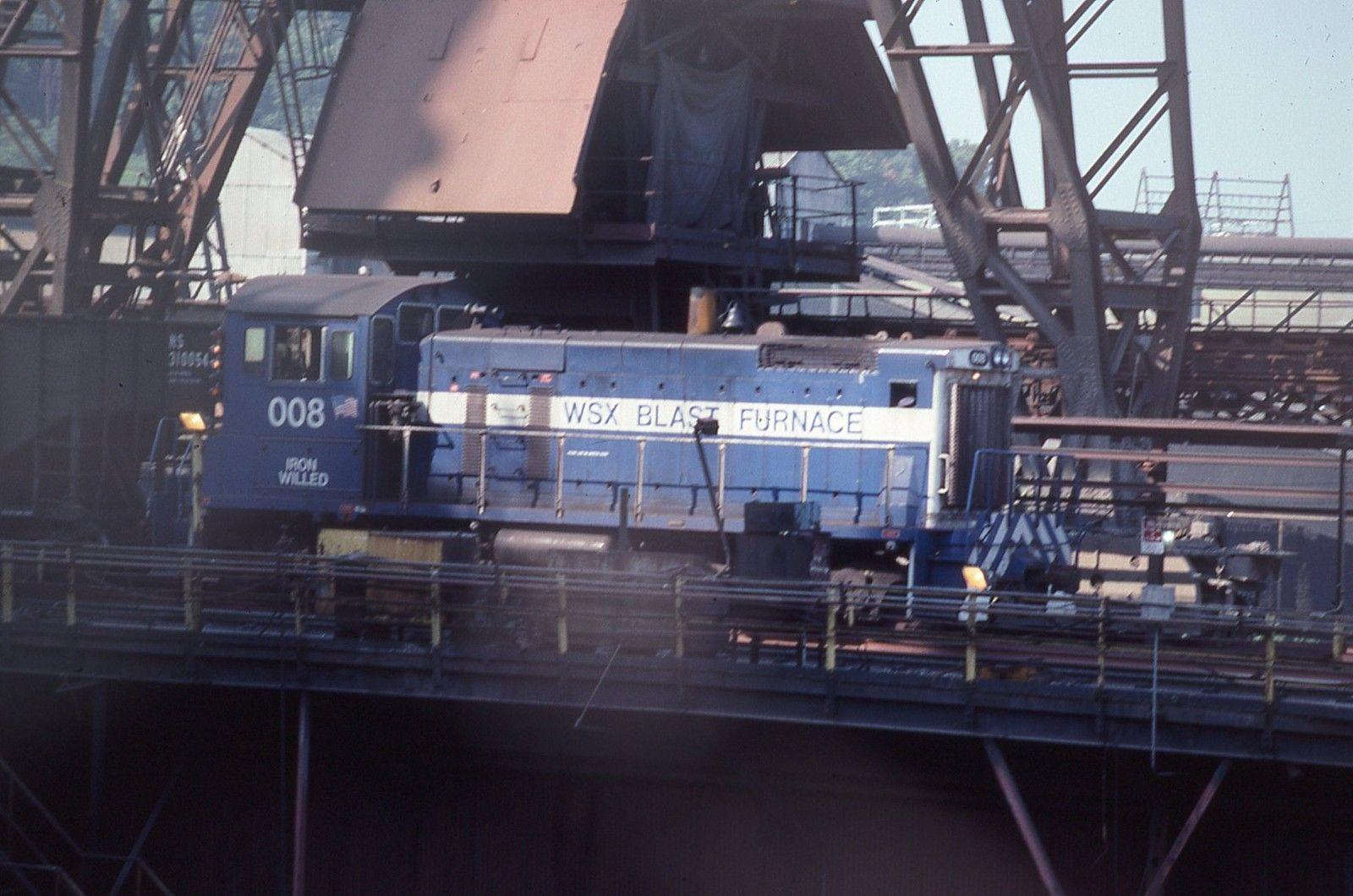 Weirton Steel Corporation S 008 Blast Furnace Switcher Blast Furnace Furnace Train