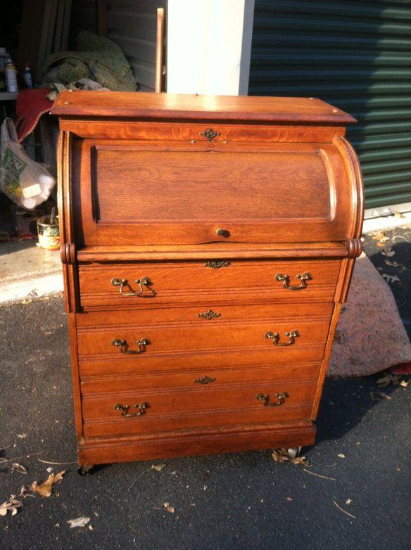 vintage rolltop desklate 1800searly 1900s u2014 best offer 650 - Rolltop Desk