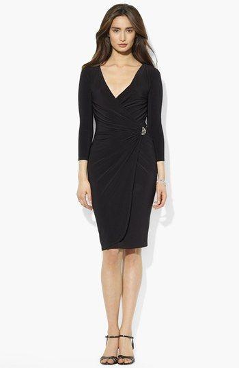 outlet for sale exquisite design detailed look Lauren Ralph Lauren Faux Wrap Matte Jersey Dress   Dresses ...